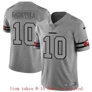 49ers #10 Jimmy Garoppolo Jersey Grey